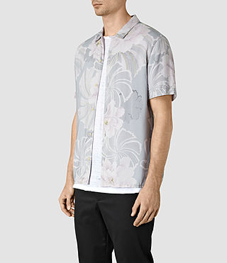 Mens Helix Short Sleeve Shirt (Lilac) - product_image_alt_text_2