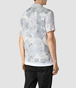 Mens Helix Short Sleeve Shirt (Lilac) - product_image_alt_text_3