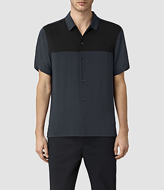 Hombres Staten Short Sleeve Shirt (INK NAVY)