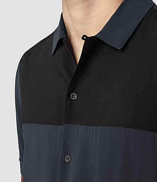Mens Staten Short Sleeve Shirt (INK NAVY) - product_image_alt_text_2