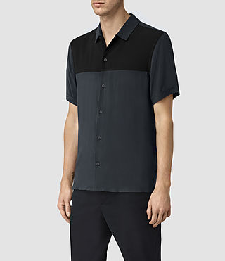 Mens Staten Short Sleeve Shirt (INK NAVY) - product_image_alt_text_3