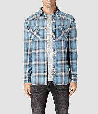 Hombre Bridger Shirt (Blue) - product_image_alt_text_1