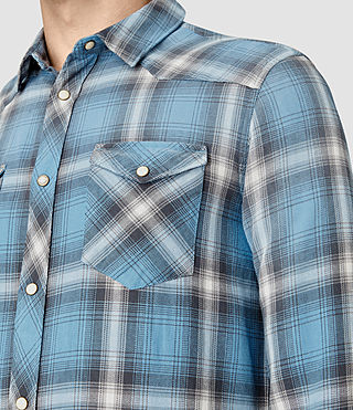 Hommes Bridger Shirt (Blue) - product_image_alt_text_2