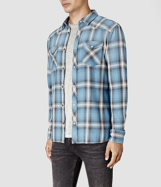 Hommes Bridger Shirt (Blue) - product_image_alt_text_3