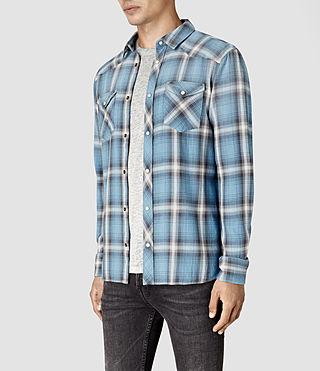 Mens Bridger Shirt (Blue) - product_image_alt_text_3