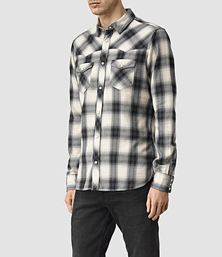 Uomo Washita Shirt (Black) - product_image_alt_text_3