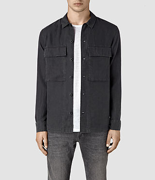 Hombres Gloucester Shirt (Washed Black)