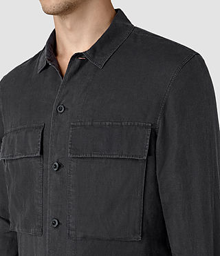 Mens Gloucester Shirt (Washed Black) - product_image_alt_text_2