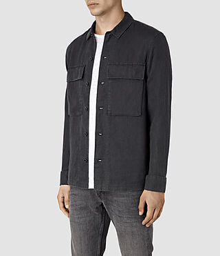 Mens Gloucester Shirt (Washed Black) - product_image_alt_text_3