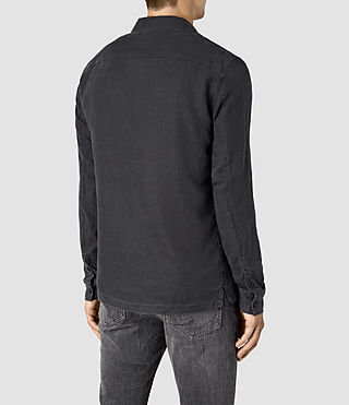 Mens Gloucester Shirt (Washed Black) - product_image_alt_text_4