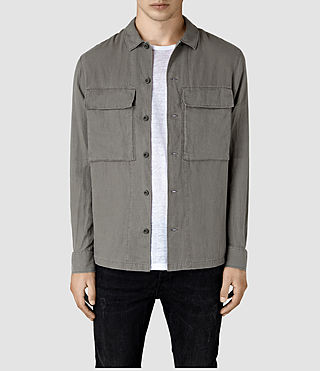 Hombre Gloucester Ls Shirt (WASHED KHAKI GREEN) - product_image_alt_text_1