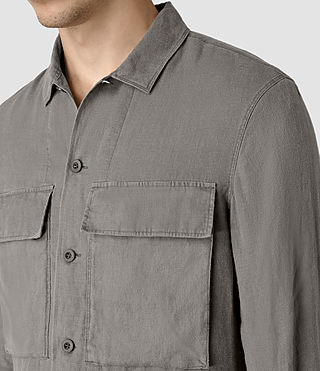 Hombre Gloucester Ls Shirt (WASHED KHAKI GREEN) - product_image_alt_text_2