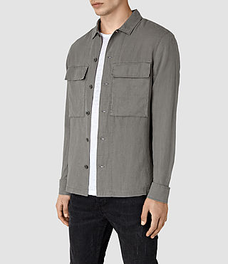 Hombre Gloucester Ls Shirt (WASHED KHAKI GREEN) - product_image_alt_text_3