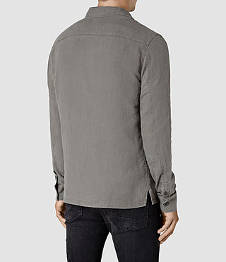 Hombre Gloucester Ls Shirt (WASHED KHAKI GREEN) - product_image_alt_text_4