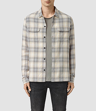 Mens Halleck Shirt (Light Grey) - product_image_alt_text_1