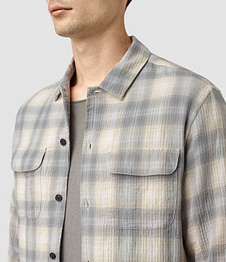Mens Halleck Shirt (Light Grey) - product_image_alt_text_2