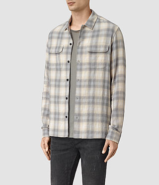 Mens Halleck Shirt (Light Grey) - product_image_alt_text_3