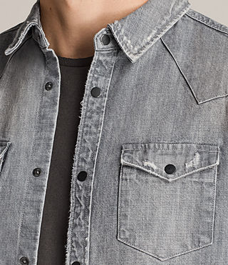 Men's Gikeoa Denim Shirt (Grey) - Image 2