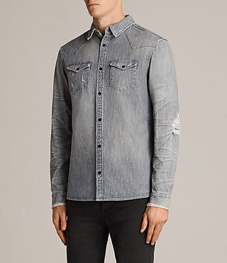 Men's Gikeoa Denim Shirt (Grey) - Image 3