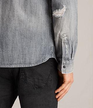 Men's Gikeoa Denim Shirt (Grey) - Image 4