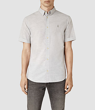 Mens Avila Short Sleeve Shirt (Light Grey) - product_image_alt_text_1