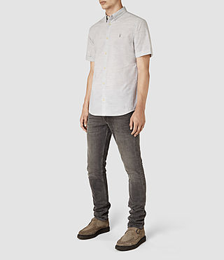 Mens Avila Short Sleeve Shirt (Light Grey) - product_image_alt_text_2