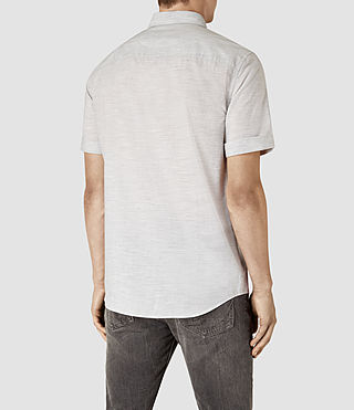 Uomo Avila Short Sleeve Shirt (Light Grey) - product_image_alt_text_3