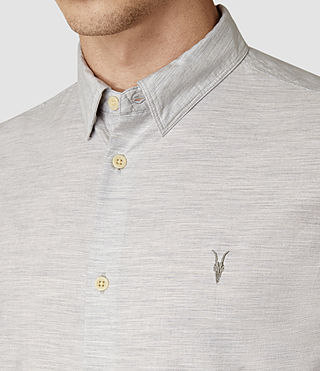 Uomo Avila Short Sleeve Shirt (Light Grey) - product_image_alt_text_4