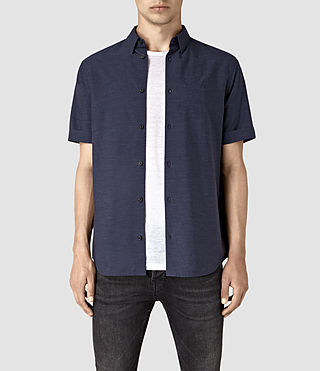 Mens Avila Short Sleeve Shirt (INK NAVY) - product_image_alt_text_1