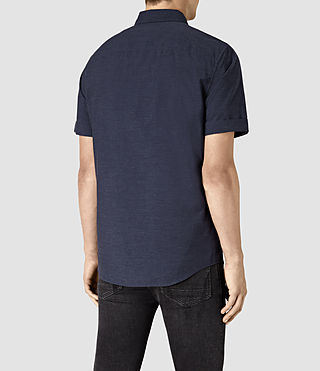 Mens Avila Short Sleeve Shirt (INK NAVY) - product_image_alt_text_3