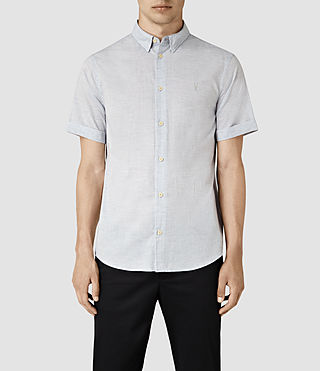 Mens Avila Short Sleeve Shirt (Light Blue)