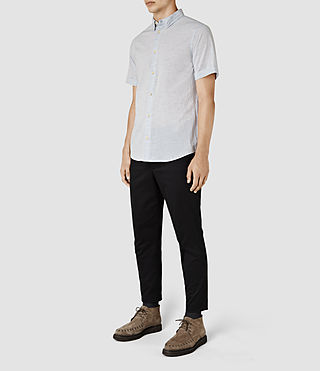 Hombre Avila Short Sleeve Shirt (Light Blue) - product_image_alt_text_2