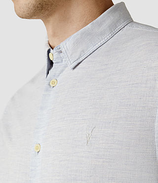 Hombre Avila Short Sleeve Shirt (Light Blue) - product_image_alt_text_4