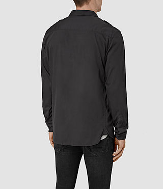 Hombre Picket Ls Shirt (Washed Black) - product_image_alt_text_3