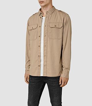 Mens Picket Shirt (Sand Khaki) - product_image_alt_text_2
