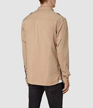 Hommes Picket Ls Shirt (Sand Khaki) - product_image_alt_text_3