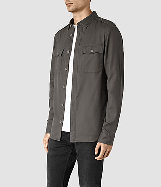 Uomo Contractor Shirt (Cadet Green) - product_image_alt_text_3