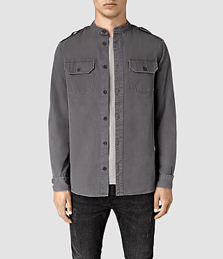 Herren Privateer Ls Shirt (Washed Black)
