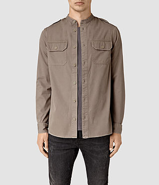 Hombre Privateer Ls Shirt (WASHED KHAKI GREEN)