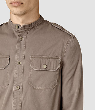 Hombres Privateer Shirt (WASHED KHAKI GREEN) - product_image_alt_text_2