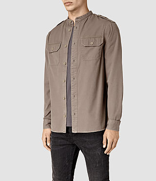Hombres Privateer Shirt (WASHED KHAKI GREEN) - product_image_alt_text_3