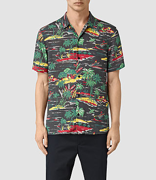 Men's Eden Short Sleeve Shirt (Black)