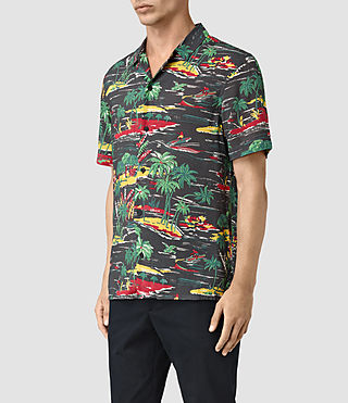Hombres Eden Short Sleeve Shirt (Black) - product_image_alt_text_3