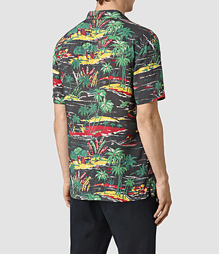 Men's Eden Short Sleeve Shirt (Black) - product_image_alt_text_4