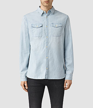 Hommes Laller Denim Shirt (LIGHT INDIGO BLUE)
