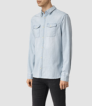 Hommes Laller Denim Shirt (LIGHT INDIGO BLUE) - product_image_alt_text_2