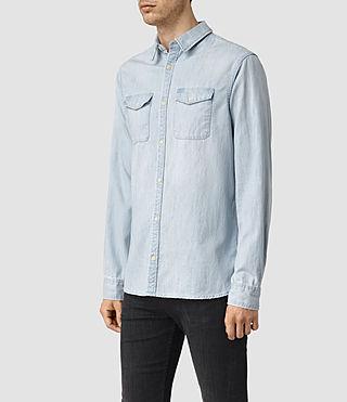 Hombre Laller Denim Shirt (LIGHT INDIGO BLUE) - product_image_alt_text_2