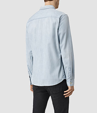 Men's Laller Denim Shirt (LIGHT INDIGO BLUE) - product_image_alt_text_3