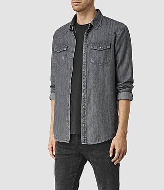 Men's Contam Shirt (Grey) - product_image_alt_text_3