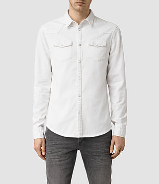 Mens Gered Shirt (White) - product_image_alt_text_1